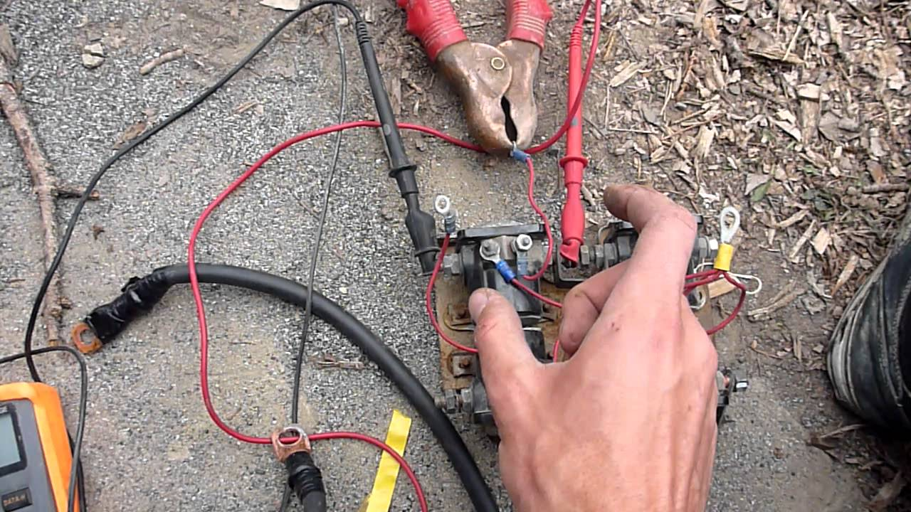 Warn 8000 Winch Wiring Diagram Motor Rewiring And Troubleshooting A M8000 Part 2 Youtube