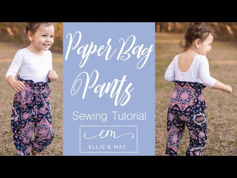 Come Sew These  Paper Bag Pants And Find Out How Easy It Is To Be On Trend!!