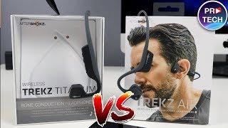Сравнение крутых беспроводных костных наушников. AfterShokz Trekz Air vs Titanium | ProTech