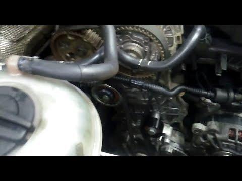 VW, Skoda 1.6MPI cwva Замена ремня ГРМ