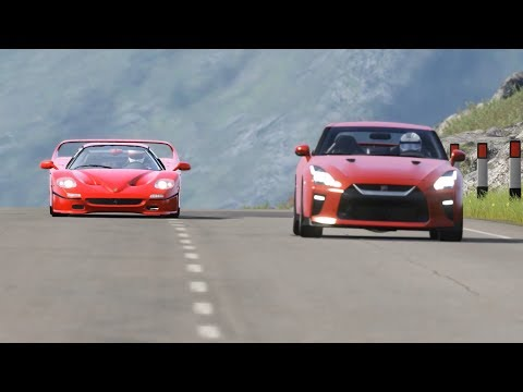 Nissan GT-R 2017 Vs Ferrari F50 At Highlands