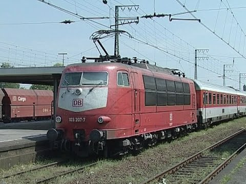 The German Class 103 & class 110 in action: 1994 - 2005  www.linesidevideos.co.uk
