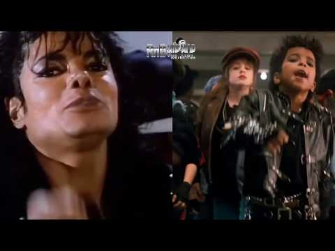Michael Jackson Video Comparison / Kids Version of Bad Side by Side