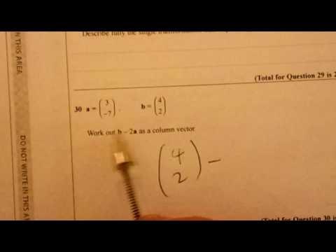 Q30 Column Vectors Foundation/Higher Non-Calculator Sample Assessment Material 9-1