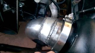lsx turbo ford fairmont build video 29 downpipe fan etc borg warner s400