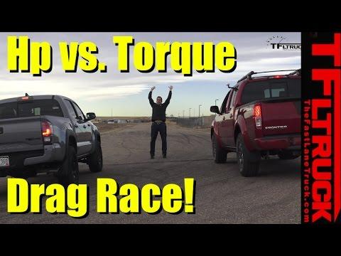 2017 Toyota Tacoma TRD Pro vs Nissan Frontier PRO-4X: Drag Race, HP vs Torque