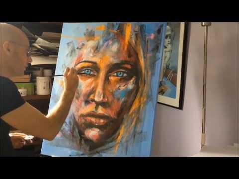 Acrylic abstract portrait : Quantum portrait