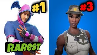 Top 10 Rarest Fortnite Skins you Didnt Know Existed in 2019 | Rarest Fortnite Skins of 2019