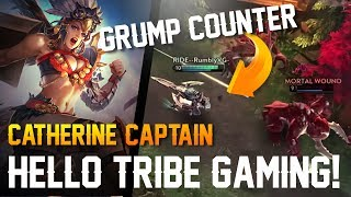 Vainglory - Road to Vainglorious [Gold]: GRUMPJAW COUNTER!! Catherine |Captain| Gameplay