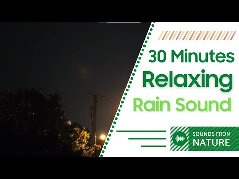Best 30 Minutes Relaxing Original Soothing Rain Sound for Sleeping and Stress Relief ( No Music)