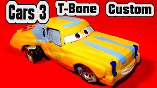 Pixar Cars 3 Customs T-BONE Demolition Derby Car with Primer McQueen  Miss Fritter TACO and Pileup