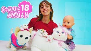 Vidéo de bébé born Emily en français pour enfants. Comme maman épisode № 18 - les petits chatons