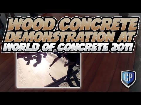 Wood Concrete Demonstration at World of Concrete 2011 YouTube