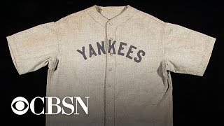Babe Ruth jersey fetches record-breaking $5.6 million at auction