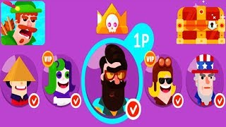 Bowmasters - Gameplay Walkthrough 13 Epic Wins - New Characters  Funny Trolling Gameplay Videos
