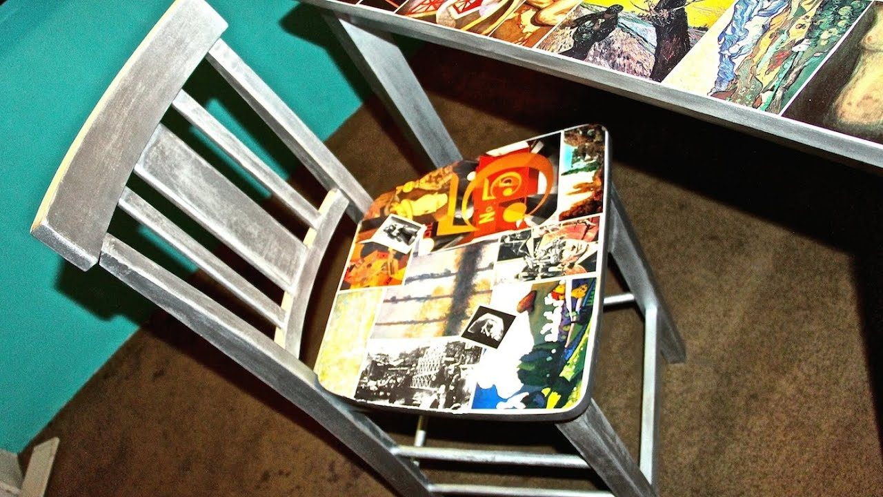 D I Y Decoupage Chairs Youtube