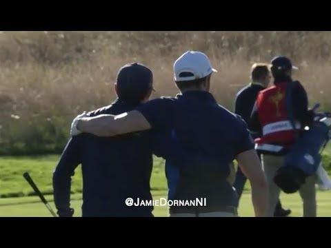 Jamie Dornan & Niall Horan: Ryder Cup Celebrity Match 25.09.18