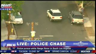 FNN: Police Chase White Range Rover in South Los Angeles Area - MUST WATCH