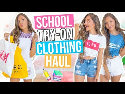 Back to School CLOTHING HAUL 2017! Forever...
