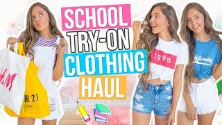 Back to School CLOTHING HAUL 2017! Forever 21, Topshop, H&M and MORE!