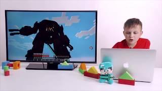 ЕГОР и СТИВ Обзор боссов в #МАЙНКРАФТ MINECRAFT Обзор приложения Видео для детей