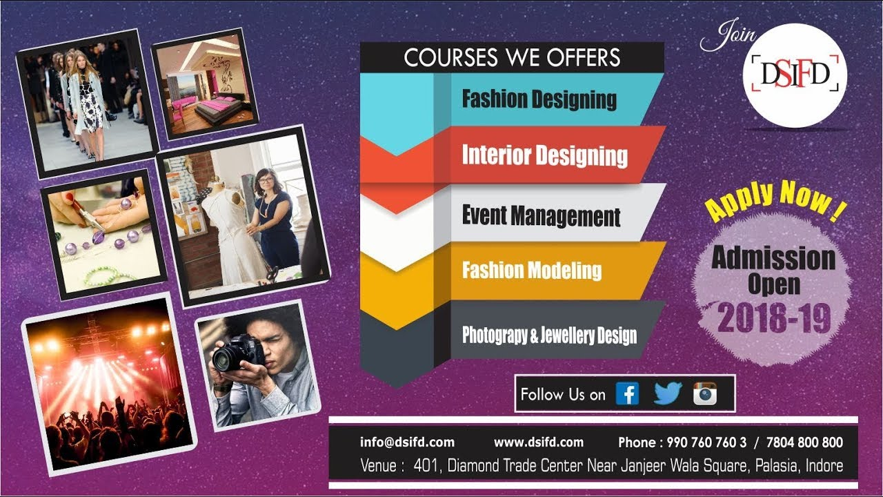 Fashion Designing Institute Indore Fashion Designing Course Indore Dsifd Youtube