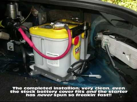 upgrading the miata battery youtube. Black Bedroom Furniture Sets. Home Design Ideas