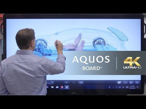 SHARP 4K AQUOS BOARD® Interactive Display System Overview