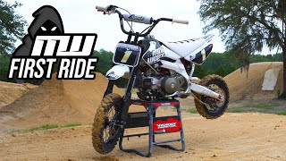 FIRST RIDE | Insane BBR Perimeter CRF50 | Ft. FMX Pro Dereck Beckering