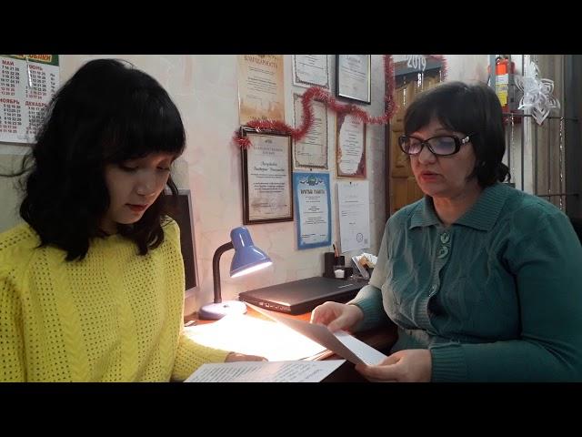 Изображение предпросмотра прочтения – «Амина и Вика» читают отрывок изпроизведения «Заячьи лапы» К.Г.Паустовского