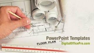 Floor Plan Powerpoint Template Backgrounds Digitalofficepro 07238w Youtube