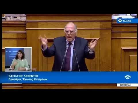 Βασίλης Λεβέντης  στην Βουλή  για την ψήφο εμπιστοσύνης 15-01-2019