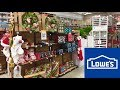 LOWE'S CHRISTMAS CLEARANCE DECOR DECORATIONS TREES SHOP WITH ME SHOPPING STORE WALK THROUGH 4K