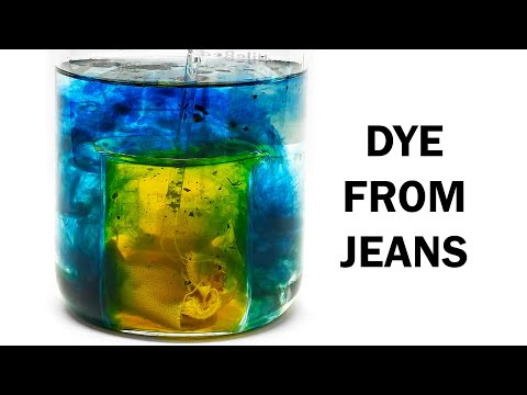 Extracting the dye in jeans