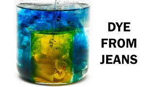 Extracting the blue dye in jeans