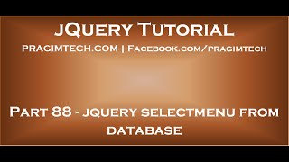 jQuery selectmenu from database