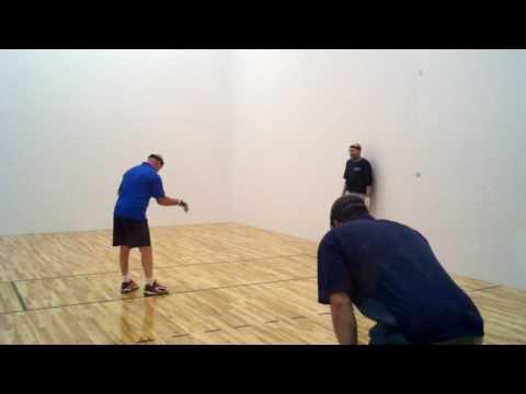 Jake, Eric Plummer playing handball