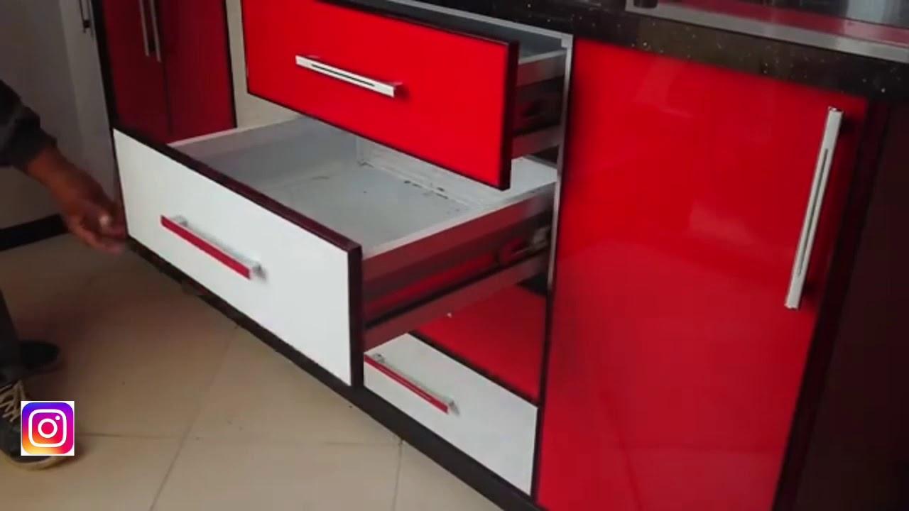 proses pembuatan aluminium kabinet kitchen set minimalis ...