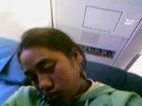 Sekah on the plane back from Samoa.. dreaming of the woman!!!