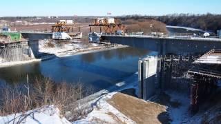 Fairway Road Grand River Bridge segmental construction time-lapse video