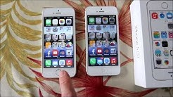 Verizon iPhone 5s vs iPhone 5 boot up & owner review + unboxing