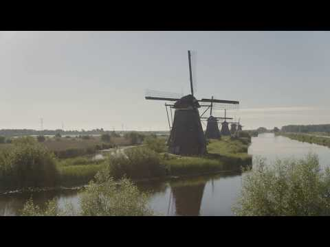 Amazing UNESCO Kinderdijk in 4K UHD - The Netherlands - TheDutchVideoGuy