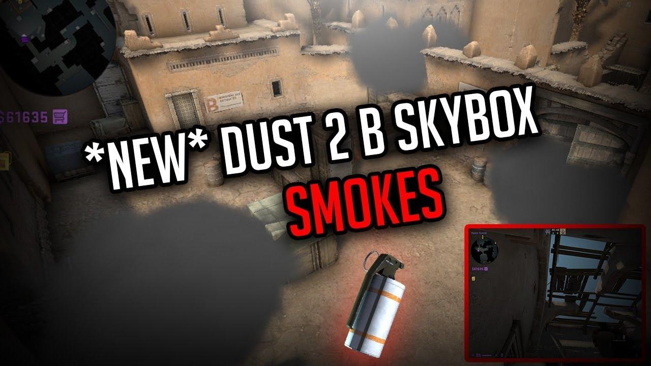 *NEW* Dust 2 B-Site Smokes! |Safe Window + Door + Plat | CSGO