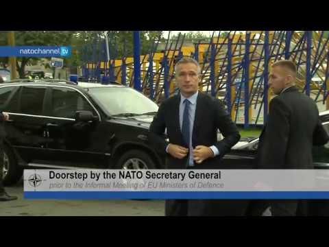 NATO Secretary General doorstep at EU Defence Ministers meeting in Tallinn, 7 SEP 2017