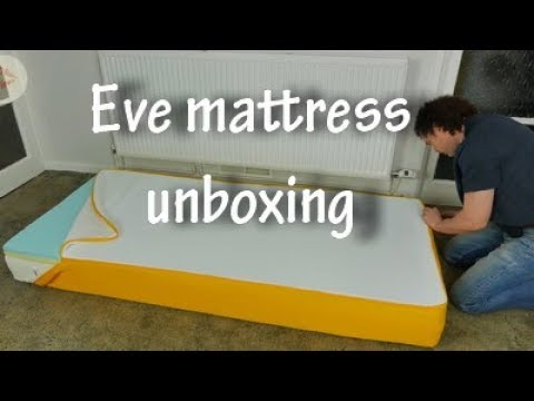 eve mattress unboxing video uk memory foam mattress. Black Bedroom Furniture Sets. Home Design Ideas