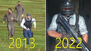 evolution of PUBG PlayerUnknowns Battlegrounds 2013-2019