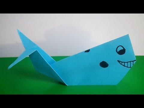 оригами кит, как сделать оригами кита // Origami whale - YouTube