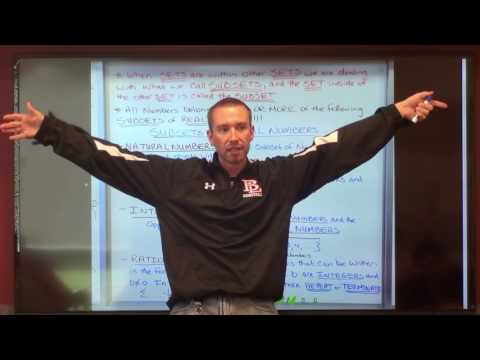 Algebra I-Lesson #1-Classifying Real Numbers and The Real Number System