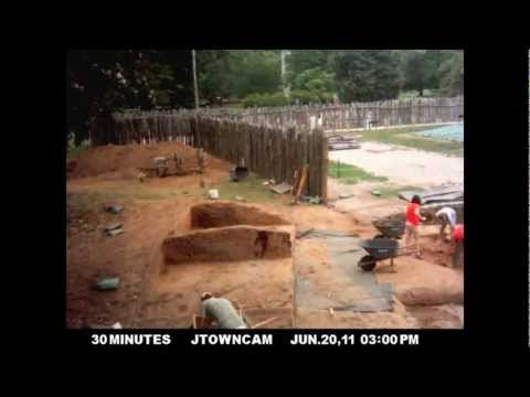 Confederate Civil War Fort Excavation: Fort Pocahontas on Jamestown Island in Virginia