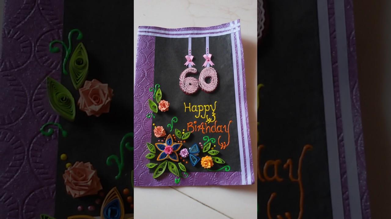 60th Birthday Greeting Card Idea